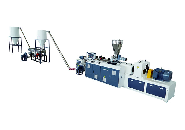 PVC conical twin screw granulation extrusion line